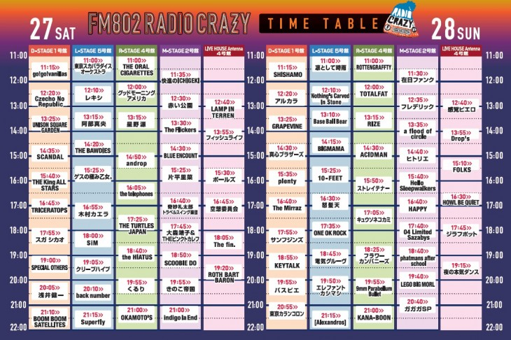 FM802 ROCK FESTIVAL RADIO CRAZY2014